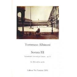 Albinoni, Tomaso: Sonate Nr.3 op.6 : für Altblockflöte und Bc