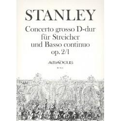 Stanley, John: Concerto grosso D-Dur op.2,1 : für Streicher und Bc Partitur und Stimmen