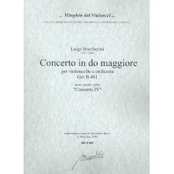 Boccherini, Luigi: Concerto in do maggiore GerB481 : für Violoncello und Orchester Partitur und Stimmen
