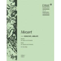 Mozart, Wolfgang Amadeus: Exsultate jubilate KV165 : für Sopran und Orchester Violine 1