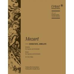 Mozart, Wolfgang Amadeus: Exsultate jubilate KV165 : für Sopran und Orchester Cello/Baß