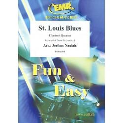 St. Louis Blues : f├╝r 3 Klarinetten und Bassklarinette (Keyboard und Schlagzeug ad lib) Partitur und Stimmen