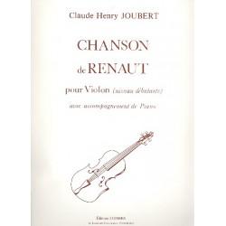Joubert, Claude-Henry: Chanson de Renaut pour violon et piano (niveau debutants)