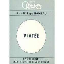 Rameau, Jean Philippe: Platee : livret (fr) comedie-ballet ou ballet-bouffon en 3 actes et un prologue