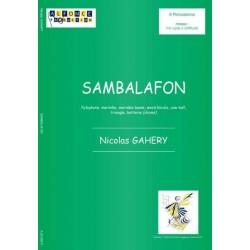 Gahery, Nicolas: Sambalafon : pour ensemble de 6 percussions, partition+parties