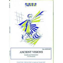 Heslink, Dan: Ancient visions : ensemble pour 6 percussions, partition et parties