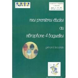 Lecointe, G├®rard: Mes premieres etudes au vibraphone 4 baguettes Collection percus-sons