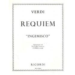 Verdi, Giuseppe: Ingemisco aus Requiem : für Tenor und Klavier (en/la) Dunn, G., engl. Text