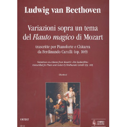 Beethoven, Ludwig van: Variazioni sopra un tema op.169 del flauto magico di Mozart : per pianoforte e chitarra