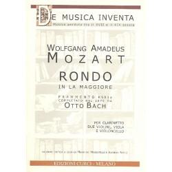 Mozart, Wolfgang Amadeus: Rondo la maggiore : per clarinetto, 2 violini, viola e violoncello partitura e parti