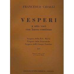 Cavalli, Pier Franceso: Vesperi a 8 voci con bc : partitura (1675) Bussi, F., rev.