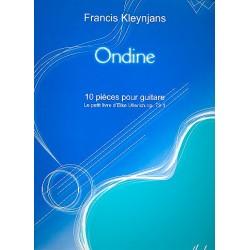 Kleynjans, Francis: Ondine : 10 pieces pour guitare le petit livre d'Elke Ullerich op.73,1