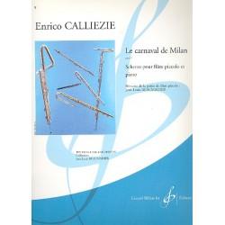 Calliezie, Enrico: Le carnaval de Milan op.5 : scherzo pour flute piccolo et piano