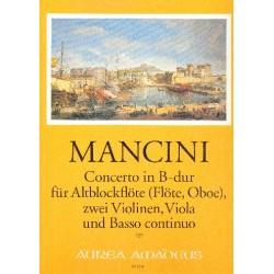 Mancini, Francesco: Konzert B-Dur Nr.10 : für Altblockflöte (FL,Ob), 2 Vl, Va und bc, Stimmen