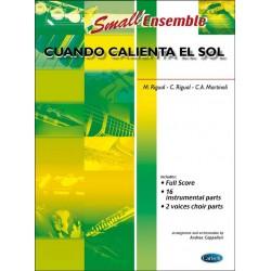 Rigual, Carlos: Cuando calienta el sol : for small ensemble and chorus, score+parts