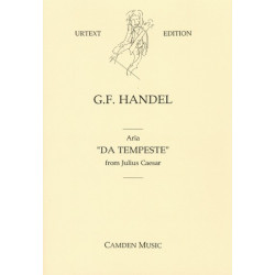 Händel, Georg Friedrich: Da tempeste : Aria from Julius Caesar for mezzo soprano, 2 violins and bc, parts (Urtext)