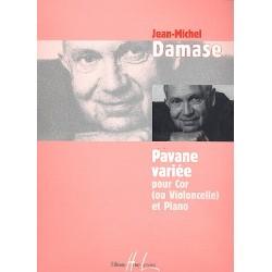 Damase, Jean-Michel: Pavane variee pour cor (ou violoncelle) et piano
