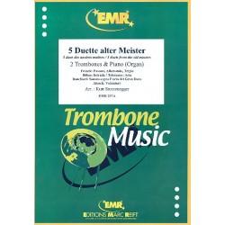 5 Duette alter Meister : für 2 Posaunen und Klavier (Orgel)