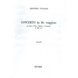 Vivaldi, Antonio: Konzert D-Dur F.XII,7 für Flöte, Violine, Fagott oder Violoncello, 3Stimmen