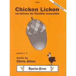 Allen, Chris: Chicken licken variations for flexible ensemble, woodwind pack score+parts