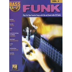 Funk Bass Playalong vol.5 (+Audio Access) : 8 of your favorite songs (+tab)