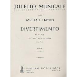 Divertimento D-Dur Perger 95 : f├╝r 2 Oboen, 2 H├Ârner und 2 Fagotte, Stimmen