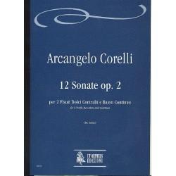 Corelli, Arcangelo: 12 sonate op.2 : per 2 flauti dolci contralti e bc, Bologna 1685