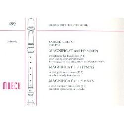 Scheidt, Samuel: Magnificat und Hymnen : f├╝r 2 Blockfl├Âten (ST) Spielpartitur