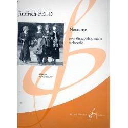 Feld, Jindrich: Nocturne : pour flute, violon alto et violoncelle, partition+parties