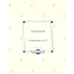 Telemann, Georg Philipp: Concerto f major no.3 : for 4 violas score+parts