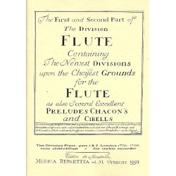 The first and second part of the division flute : facsimile London 1706-1708