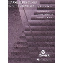 Ruwe, Gordon: Major blues tunes in all 12 keys : four-measure excerpts and jazz lines and exercises in all keys