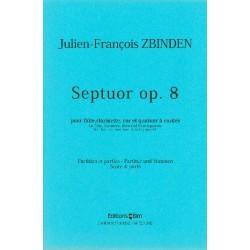 Zbinden, Julien-Francois: Septett op.8 für Flöte, Klarinette, Horn und Streich- quartett, Partitur und Stimmen (1948)
