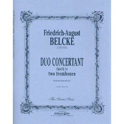 Belcke, Friedrich August: Duo concertant op.55 für 2 Posaunen, 2Spielpartituren