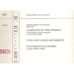 Telemann, Georg Philipp: Tanzsätze zu 4 Stimmen (SSAT, mittelschwer)