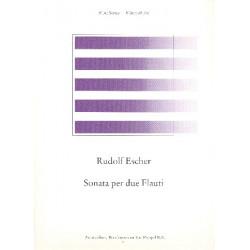 Escher, Rudolf: Sonate für 2 Flöten Spielpartitur Reede, R. de, ed