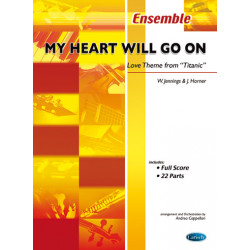 Horner, James: My Heart will go on: for flexible ensemble score and 22 parts