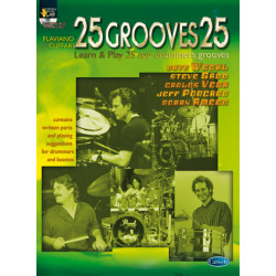 Cuffari, Flaviano: 25 grooves 25 vol.1 (+CD): 25 top drummers grooves