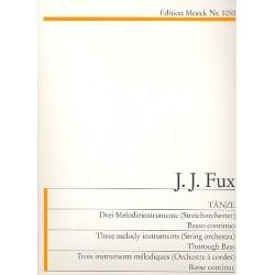 Fux, Johann Joseph: Tänze : für 3 Blockflöten (SSA) und Klavier Partitur und 3 Stimmen