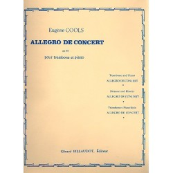 Cools, Eugène: Allegro de concert op.81 : pour trombone et piano