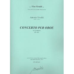 Vivaldi, Antonio: Konzert a-Moll RV461 für Oboe und Streicher Partitur und Stimmen (Bc nicht ausgesetzt) (Streicher 1-1-1-1)