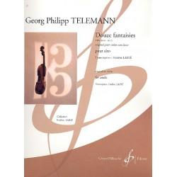 Telemann, Georg Philipp: 12 fantaisies TWV40 : pour alto Laine, Fr., arr.
