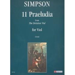 Simpson, Christopher: 11 praeludia da The Division Viol : per viola da gamba Denti, C., ed