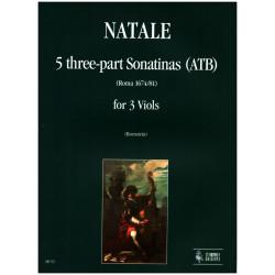 Natale, Pompeo: 5 sonatine a 3 voci (ATB) : per 3 viole da gamba partitura+parti