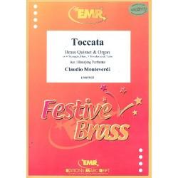 Monteverdi, Claudio: Toccata : für 5 Blechbläser und Orgel Partitur und Stimmen