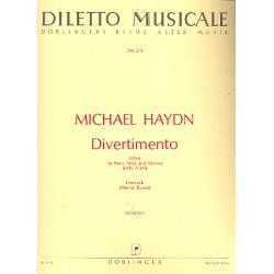 Divertimento : für Horn, Viola und Kontrabaß 3 Stimmen