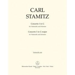 Stamitz, Karl: Concerto G-Dur Nr.1 : f├╝r Violoncello und Kammerorchester Violoncello solo