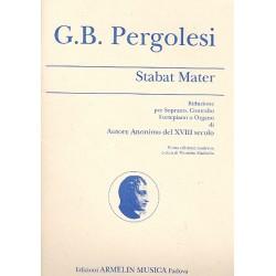 Pergolesi, Giovanni Battista: Stabat Mater : riduzione per soprano, contralto e organo (pianoforte) Machella, M., ed
