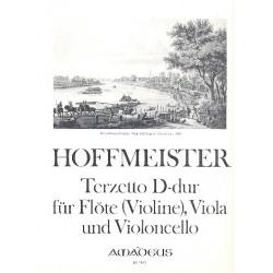 Hoffmeister, Franz Anton: Terzetto D-Dur für Flöte (Violine), Viola und Violoncello Stimmen