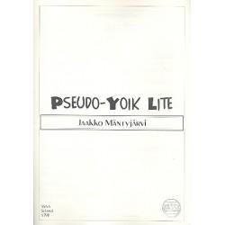 Mäntyjärvi, Jaakko: Pseudo-Yoik Lite : for 4-part female chorus (SSAA) a cappella, score (fin)